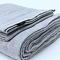 Light Grey Melange Linen Bedding Set image