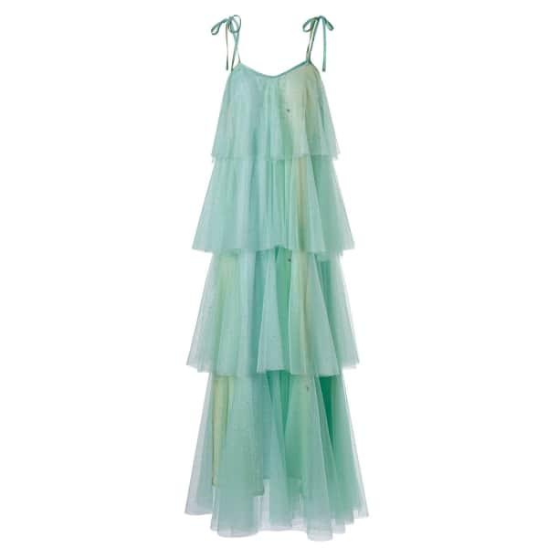 SUPERSWEET X MOUMI Binkie Dress Soft Mint Glitter in Green
