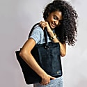 Pony Hair Leather Florence Tote In Black image