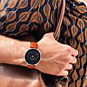 Moderno Vegan Leather Watch Silver, Black & Tan image
