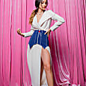 Wrap Crepe Midi Dress image