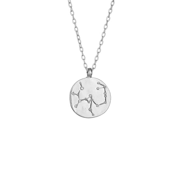 CHUPI Sagittarius We Are All Made Of Stars Star Sign Necklace in Silver