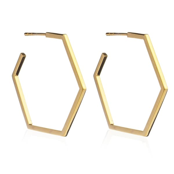 Large Serenity Hoops Gold