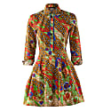 Women'S Long Sleeve Button Up Dress With Pockets Jepang image