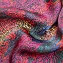 Autumn In Fuchsia Silk Scarf image