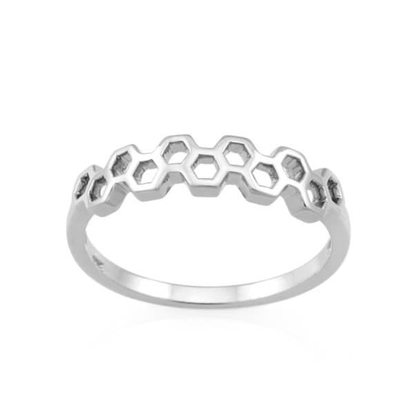 MONARC JEWELLERY The Vita Hive Linear Band - Sterling Silver