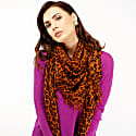 Kitty Large Cashmere Leopard Print Scarf image