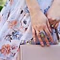 Sterling Silver Labradorite Cocktail Ring image