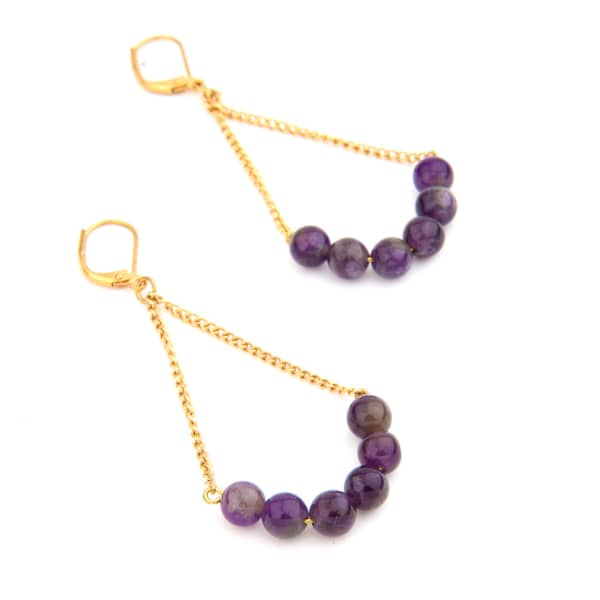 Rebel collection amethyst earrings salome wolf badger for Rebel designs jewelry sale