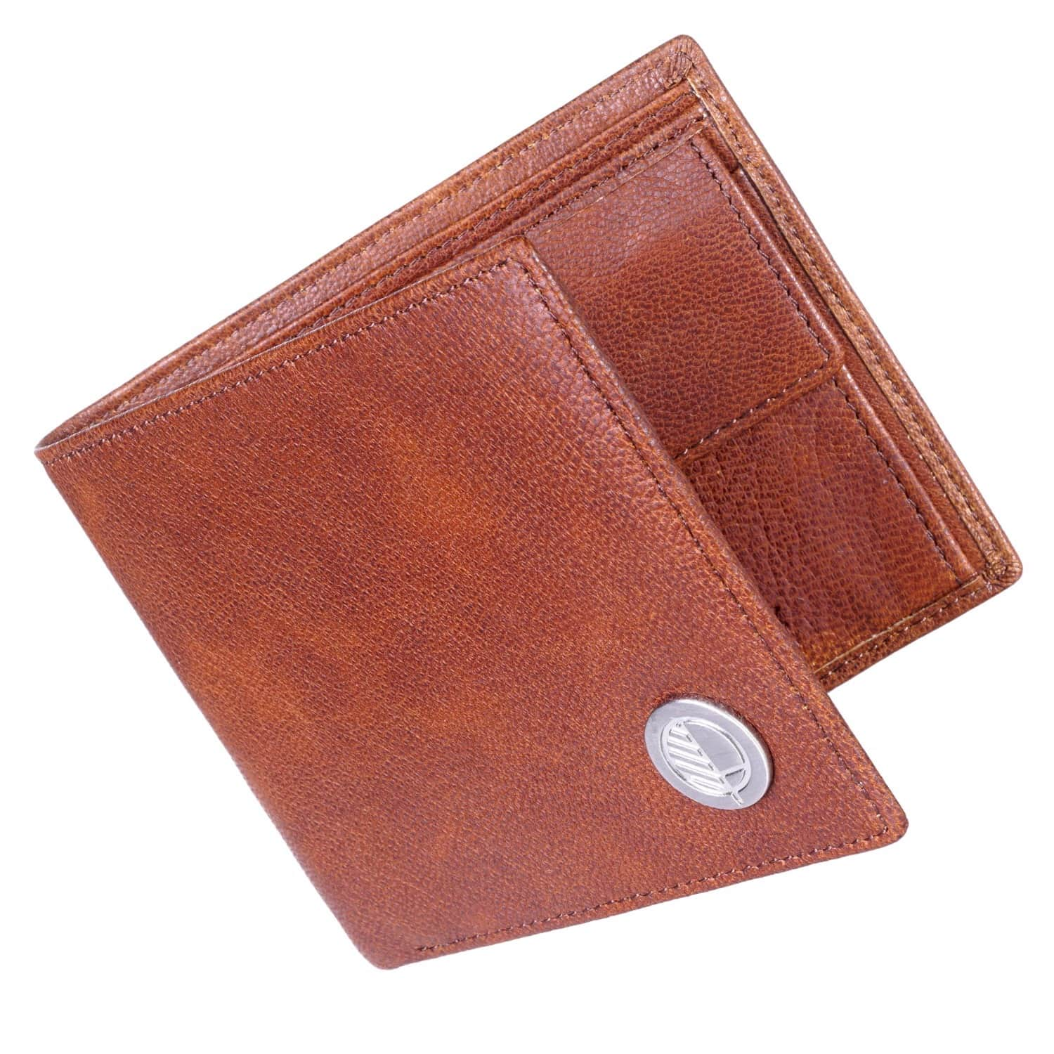 798a098677f8 Luxury English Leather Mens Billfold Wallet In Rustic Brown