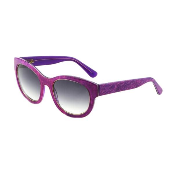 HEIDI LONDON Denim Print Square Frame Sunglasses Fuchsia