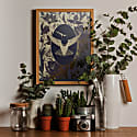 Elemental Hummingbird Gold Print image