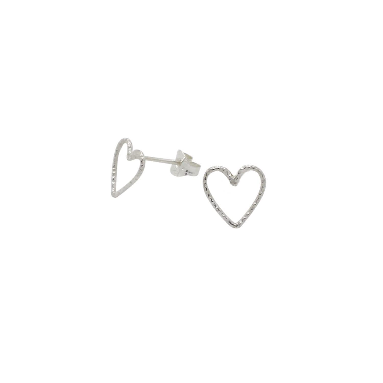 d648949109f8e Heart Stud Earrings Sterling Silver by Lucy Ashton Jewellery