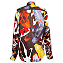 'Koi II' Multicolour Unisex Silk Satin Shirt image