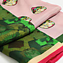 Pink Pastel Green Silk Small Scarf image