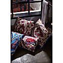 Hagia Sophia Two Tulip Suzani Ikat Double Sided Tulipe Heritage Design Cushion image
