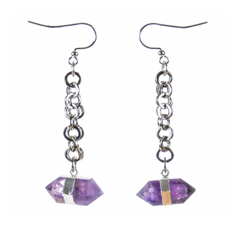 66810cb4f Goddess Amethyst Earrings Siena Collection | Tiana Jewel | Wolf & Badger
