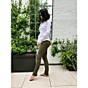 Suede Leggings In Olive Green image