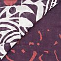 Tribal Linen/Modal Foulard - Maroon & White image