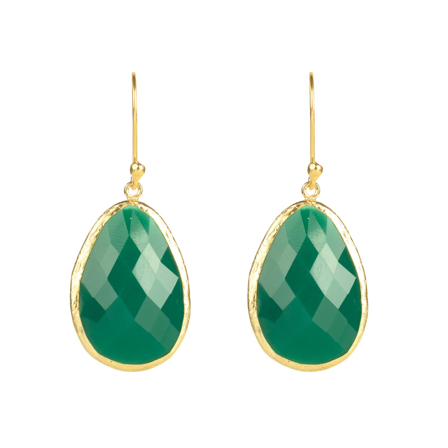 Latelita London Gold Single Drop Earring Green Onyx x6l8AzKKJr