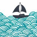 Bigger Boat Screen Print in Marine Green image
