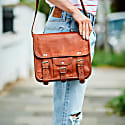 Vida Vintage Leather Day Satchel image