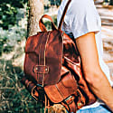 Leather Nomad Backpack In Vintage Brown image