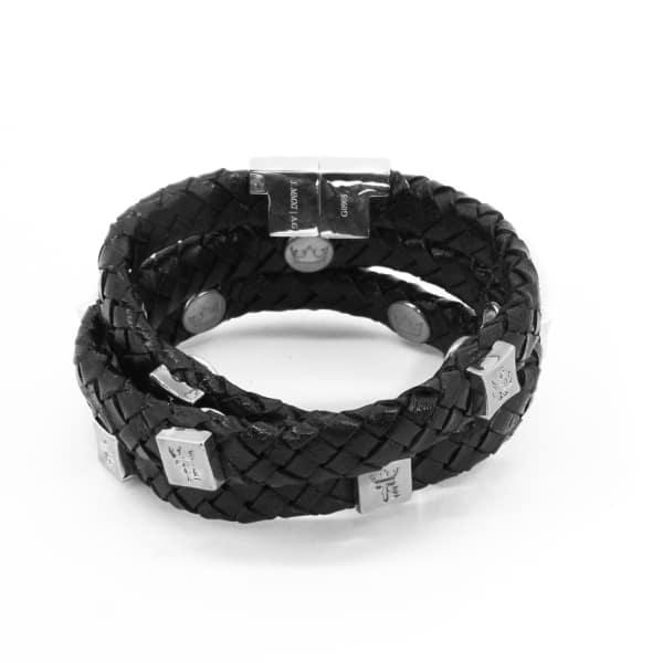 TISSUVILLE Brio Bracelet Black Silver
