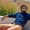 Linen Basic Long Sleeved Shirt - Navy Blue image