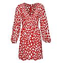 The Swing Dress In Red Giraffe image