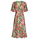 Olivia Dress Tropical Silk Print image
