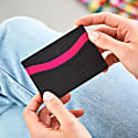 Zing Black and Pink Leather Card Holder image