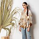 Pure Silk Kimono Wrap Top Massami image
