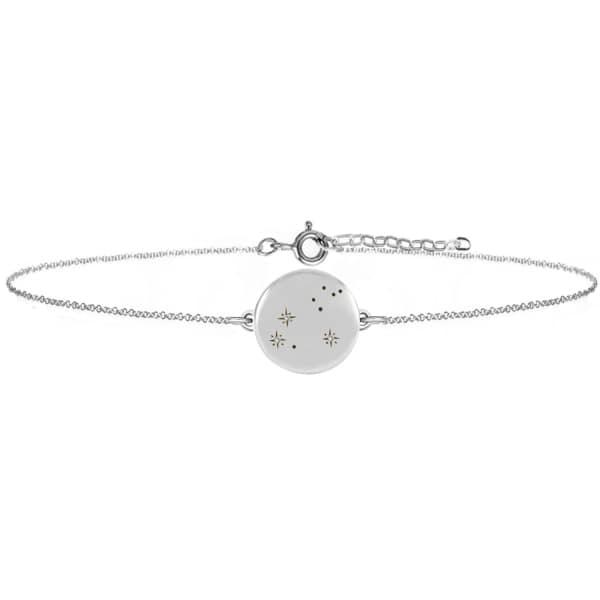 NO 13 Leo Zodiac Constellation Bracelet Diamonds & Silver