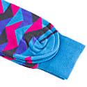 Blue Geometric Organic Cotton Socks image
