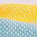 Super Fluffy Pure New Wool Blanket - Yellow, Turquoise & Grey image