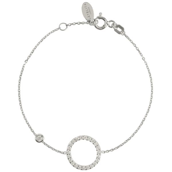 Halo Bracelet Silver