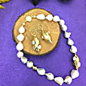 Baroque Pearls With Freshwater Pearls Studded Pendant Choker image