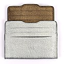 Double Card Holder Silver & Metallic Brown image