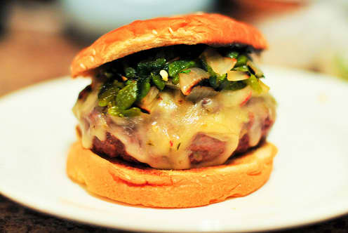 Green Chile Burger