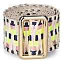 Sunda Jacquard Belt Neon & Tan image