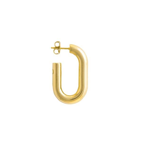 GLENDA LOPEZ The Medium Golden Link Earring
