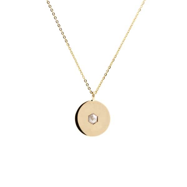 NO 13 Hexagon Diamond Pendant Necklace – 9ct Gold
