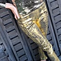 Audrey Gold Painted Fitted Reptile Pant image