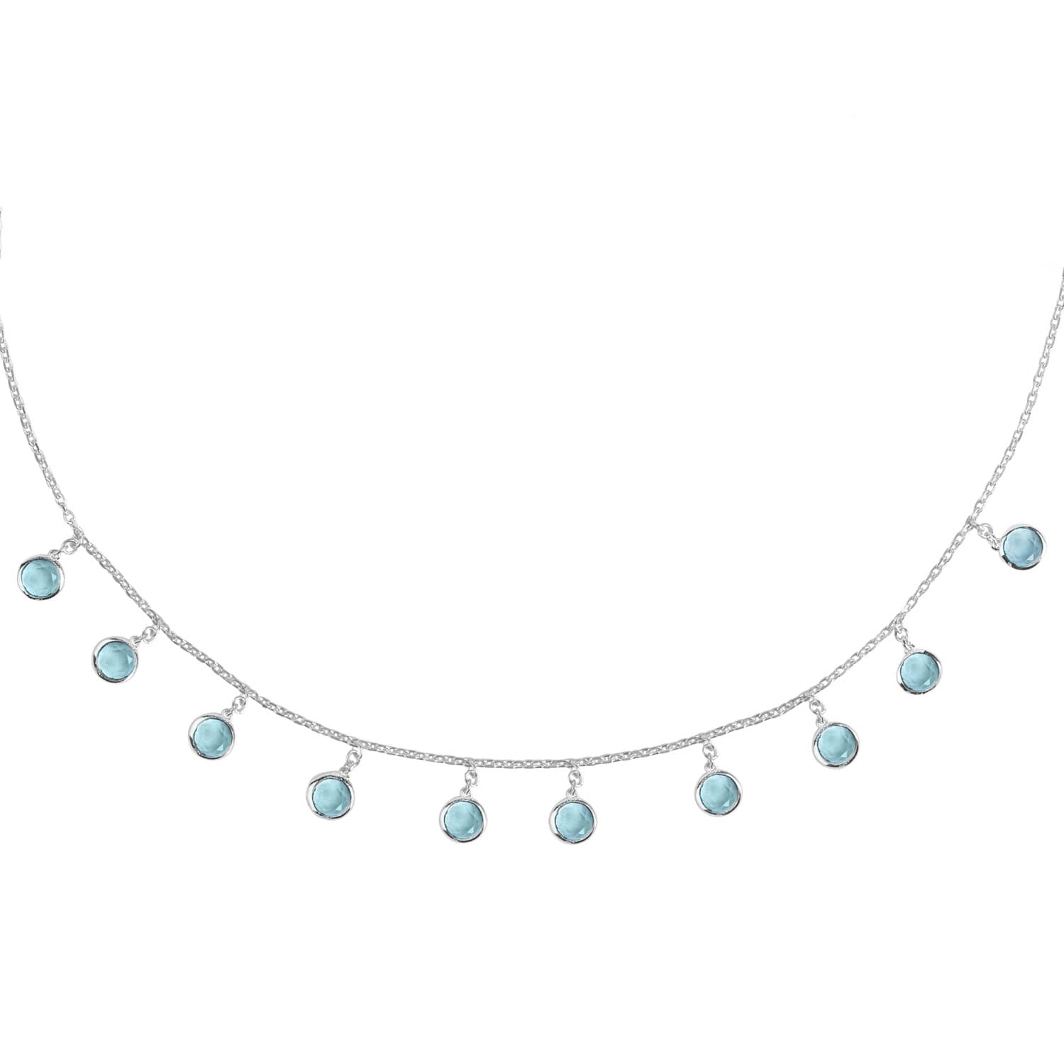 Latelita London Verona Gemstone Strand Necklace Gold Blue Topaz jHl9DhI