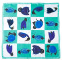 Green Birds Silk Scarf image