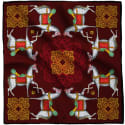 Kalighat Horse Classic Silk Scarf Collection Maroon image