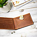 Classic Leather Wallet In Vintage Brown image