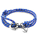 Royal Blue Clyde Anchor Silver & Braided Leather Bracelet image
