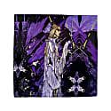 Purple Madeline Print Pocket Square image